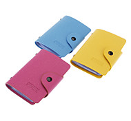 40 Slots PU Leather Credit Card Holder (Random Color)