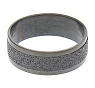 Stainless Steel Mens Black Matte Ring