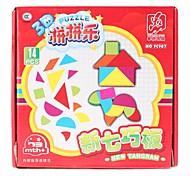 Fengchi DIY plástico Tangram IQ Puzzle (14pcs, FC987)