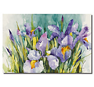 Stretched Canvas Art Floral Purple Irises by Annelein Beukenkamp