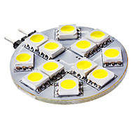 3W G4 LED Bi-pin Lights 12 SMD 5050 50 lm Natural White DC 12 V