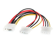 4 Pin IDE Power Supply Splitter Extension Cable 0.2M