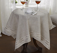 Beige Linen Square Table Cloths