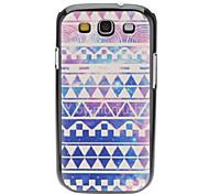 Lila Diamant gewebte Muster Hard Case für Samsung Galaxy S3 I9300