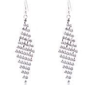 lureme®silver vernickelt Kralle Kristall-Diamant lange Halskette
