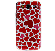 Heart Pattern Hard Case for Samsung Galaxy S3 I9300