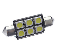 Festoon Car White 2.5W SMD LED 6000-6500 Reading Light License Plate Light Door lamp