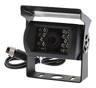 "4 pines hembra de 1/4 ""Sharp CCD 420TVL 18LED IR de visión nocturna resistente al agua el coche de seguridad o de la cámara del revés"