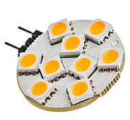 G4 1.5W 9x5050SMD 90-120lm 2800-3200K Warm White Light LED-Spot-Lampe (12V)