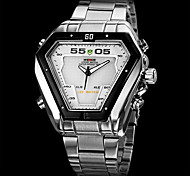 WEIDE® Men's Watch Dress Watch Triangle LED Multi-Function Dual Time Zones Water Resistant Cool Watch Unique Watch