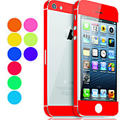 Solid Color Skin Guard with Transparent Back Protector for iPhone 5 (Optional Colors)