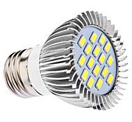 daiwl e27 5w 16x5630smd 400-450lm 6000-6500K luz blanca natural bombilla LED Spot (110 / 220v)