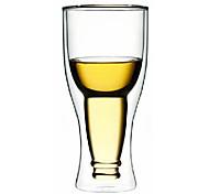Upside Down style de bière bouteille à double paroi en verre