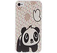 Little Panda Pattern Transparent Frame Hard Case for iPhone 4/4S