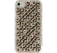 Punk Alloy caixa transparente Zircon para iPhone 4/4S