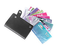Unisex Colorful PU Leather Credit Card Holder