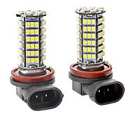 H11 5W 102-SMD LED 6000-6500K 400LM White Fog Lights for Car (DC 12V, 1-Pair)