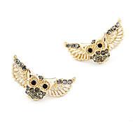 Owl Hollow-Out Wings Earrings