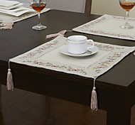 Beige Linen / Rayon Square Placemats