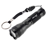 LED Flashlights / Handheld Flashlights LED 2 Mode 100 Lumens Waterproof Others AA Camping/Hiking/Caving - SmallSun , Black Aluminum alloy