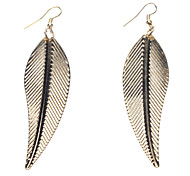 Golden Leaf Metal Earring