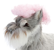 Natural Curl Pink Heat Resistant Fiber Hair Clip Wig for Dogs