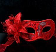 Elegant Blossom Lace Venetian Mask