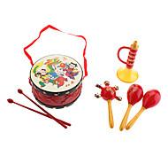 Tambour chinois traditionnel, Rattle, Corne Pack pour enfants