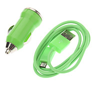 Durable Car Charger with Micro USB for Samsung Mobile Phone (Random Colors)