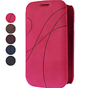 For Samsung Galaxy Case Card Holder / Flip / Embossed Case Full Body Case Solid Color PU Leather Samsung Grand