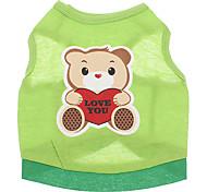 Hunde T-shirt Grün Hundekleidung Sommer Karton