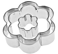 Plum Flower Shaped Stainless Steel Cookie Cutters Set (3-Pack)