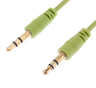 3.5mm Male to Male Video Cable for Personal Musical Green(1.5M)