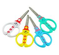 Snowman Plastic Handle Scissors(Random Color)