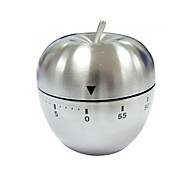 Mechanical Stainless Steel Apple Shaped Kitchen Timer