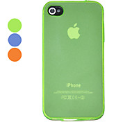 Moler arenisca Translucence Pure Color Volver Funda para iPhone 4/4S (colores surtidos)