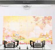 90x60cm Autumn Pattern Oil-Proof Water-Proof Kitchen Wall Sticker