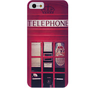 Vintage British Telephone Pattern Hard Case with Transparent Frame for iPhone 5/5S
