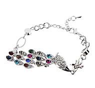 Z&X®  Colorful Peacock Diamond Bracelet