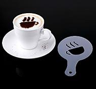 stencils café Latte Art cappuccino placa de plástico conjuntos de modelo