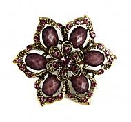 exquise Broche fleur de strass des femmes (couleur aléatoire)