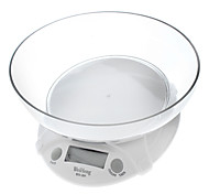 "1.8"" LCD Digital Kitchen Scale - White (7kg/1g)"