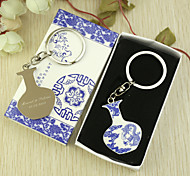 Personalized 6pcs Blue-and-white Vase Shaped Keychain