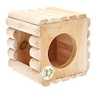 Cube Shape with Round Square Hole Roost for Birds Parrots (12x12x11cm)
