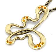 Antique Hollow Butterfly Shape Necklace(Random Color)