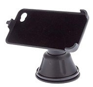 Wahingda 360 Degree Rotatable Car Mount Holder with Flocking Suction Cup for iPhone 4/4S