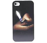 Ancient Cigarette Lighter Pattern Back Case for iPhone 4/4S