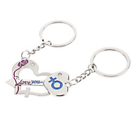 Key Style A Pair Heart Shaped Lover Keychain
