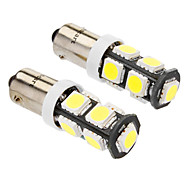 BA9S 4W 9x5060SMD 320-360LM 6000-6500K White Light-LED für Auto (DC 12V, 2-Pack)