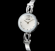 Women's Silver Case Alloy Analog Quartz Bracelet Watch (Assorted Colors) Cool Watches Unique Watches